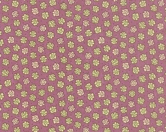 ON SALE Moda Fabric PRINTS Charming by Sandy Gervais Small Floral Berry 17847-11