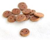 """12 tiny buckthorn buttons- darker -  0.75"""""""