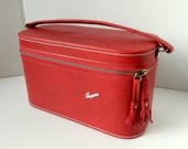 Skyway red travel case carry on train case overnight bag makeup case vanity case storage and organization