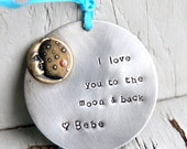 SALE I love you to the Moon and Back Ornament - I love you to the Moon and back - Gift From Aunt - Ornament - I love you Ornament - 2015 Orn