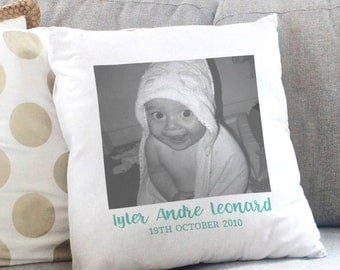Photo Message Cushion Cover