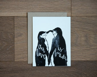 Valentine's card, Anniversary card , I love you - our love is forever - valentines day card - wedding