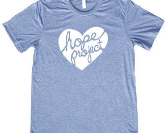 Hope Project Heart Logo T Shirt - Feed a child in Nicaragua by purchasing this stylish tee - 3 Colors to choose from