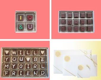 Will You Be My Girlfriend Chocolate Gift for Her Womens Gift Romantic You And I, I Like You A Lot, Will You Be My Girlfriend Be My Valentine