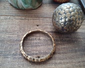 On Sale 14k Gold Filled Bangle Bracelet, yellow gold filled bangle bracelet, bambo bangle, gold filled bangle bracelet, stackable bangle