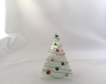 Frosted Christmas Tree Votive