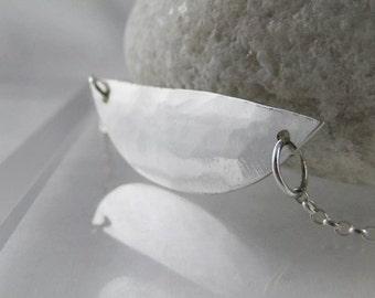 Sterling Silver Circular Segment Necklace - CMcB Jewellery