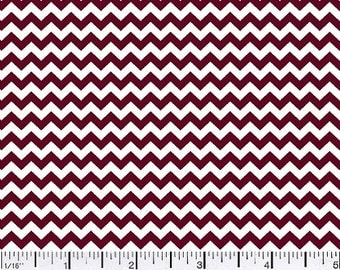 "SALE - Special Size - 23""x44"" - Burgundy Chevron Mini - Cotton"
