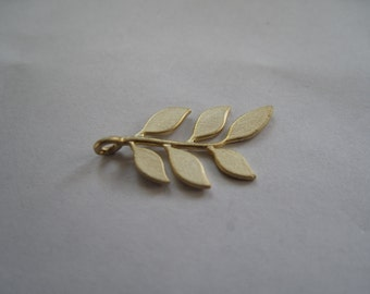 1-Matte Gold Branch w/Leaves Pendant