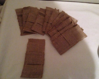 12 Burlap Bags for Crafting/Favors for Fall/Thanksgiving/Wedding/Halloween or Silverware Holders- 8 x 4 inches