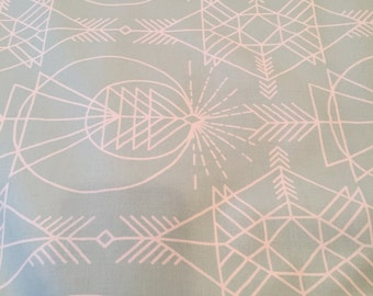Native aqua, Wander Collection by Joel dewberry for Free Spirit Fabrics 1/2 yd
