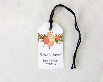 Favor Tags, Watercolor Wedding Stationery, Personalized Bridal Shower Gift Tags - Set of 25 Tags (SMGT-CTCHF)