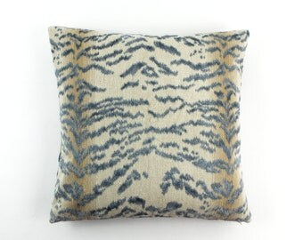 Cowtan & Tout Rajah Blue Velvet Pillows 11028 (both sides)