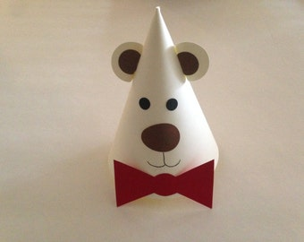 TEDDY BEAR Birthday Party Hats (Set of 6) -- Almost as cute and cuddly as the real thing!