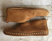 Vintage Moccasins Leather Booties Mens 11 or 12