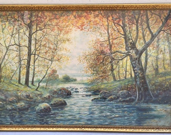 Rahael Senseman Water Color Painting Autumn Stream Colorful Landscape Beautiful-Best We Ever Had from this artist!