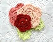 Crochet Irish Rose Brooch Pattern -crocheted rose, flower brooch, rose brooch, crochet accessory, crochet pattern