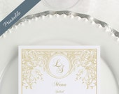 Art Deco Wedding Menu Printable