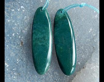 Wave Jasper Earring Bead,42x12x5mm,9.1g