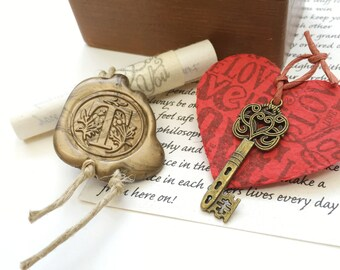 Military boyfriend gift, Personalized Long distance relationship gift, Wooden memory love box, Deployment gift, Key to my Heart