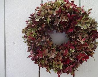 Hydrangea Wreath  Dried Hydrangea Wreath  Natural Wreath  Dried Wreath  Small Wreath  Birhtday Gift  Home Decor  Birthday Gift