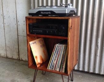 FRONTIER ~ Handmade Reclaimed Wood Vinyl Record Storage Unit