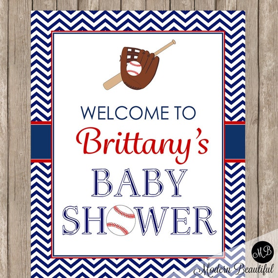 Baseball Baby Shower Personalized Sign Welcome Sign Baseball