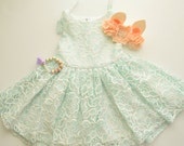 Mint Lace Dress by Papoose Clothing