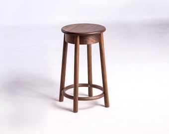 PO Barstool in Walnut by Plywood Office