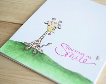 INSTANT DOWNLOAD Digi Stamp Digital Image Kawaii Valentine Giraffe ~ Cutelyn Image No. 136 by Lizzy Love