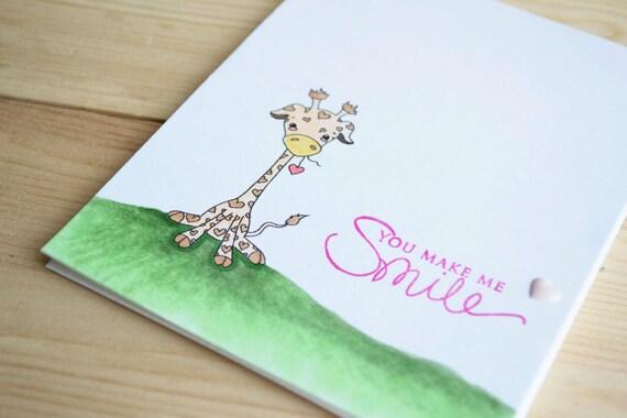 INSTANT DOWNLOAD Digi Stamp Digital Image Kawaii Valentine Giraffe ~ Cutelyn Image No. 136 by Lizzy Love