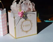 Pink and gold favor bags customized for your event!