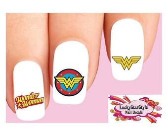 Waterslide Nail Decals Set of 20 - Wonder Woman Assorted