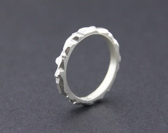 Mini Facet Ring: Sterling Silver, Small