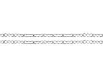 Chains, Krinkle/Peanut Chain, Sterling Silver, 1.8mm - 5ft Made in USA 10% discounted LOWEST PRICE wholesale quantity (5339-5)/1