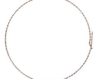 Ear Wire Sparkle Beading Hoop 14Kt Rose Gold Filled 25mm 21ga  - 5 Pairs Wholesale Price (10458)/1