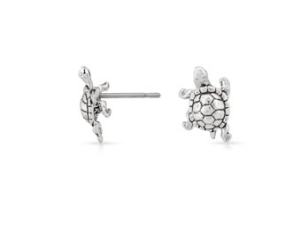 Turtle Ear studs 925 Sterling Silver 11.4x6.8mm - 1Pair (4117) High Quality Wholesale price