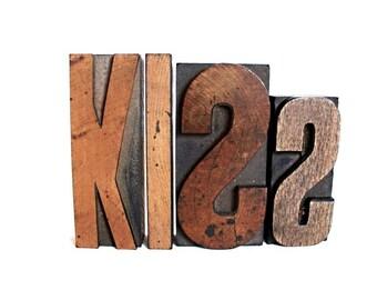 Big KISS . letterpress blocks / word art . wooden letter blocks . wood letters . lot9