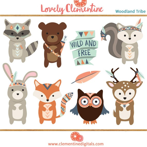 The Art Of Animal Character Design Pdf Free Download : Woodland clip art images fox clipart tribal