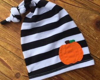 Newborn Hat - Pumpkin Hat - Cotton Hat - Newborn Hat - Newborn Photo Prop - Newborn Boy - Coming Home Set