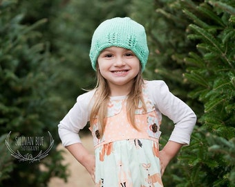 The Jocelyn Hat Knitting PATTERN, in Preemie to Adult Sizes-Worsted Weight, Knit in the Round, Simple Gifts Hats, Baby, Toddler, Kids, Teen
