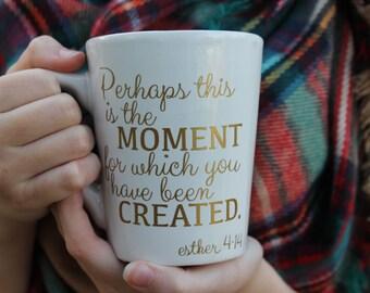 Customizable Bible Verse Gold Foil Mug