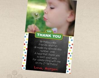 Sesame Street Inspired Thank You Card
