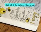 Bible Journaling Coloring Set  DIGITAL DOWNLOAD Bible Verse Printable (Set #3)