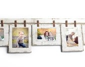 Mixed Barnwood Collage Frame 5 hole 5x7 Multi Opening Frame-Rustic Picture Frame-Reclaimed-Landscape or Portrait-Collage Frame