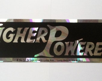 1980s Higher Powered AA NA sticker prism reflective clean sober recovery Alcoholics Anonymous