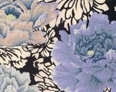 Kimono Robe. Kimono. Bridesmaid Robe. Dressing Gown. Blue Kimono Robe. Blue Floral. KNEE and MID CALF Length. Small thru Plus Size 2XL.