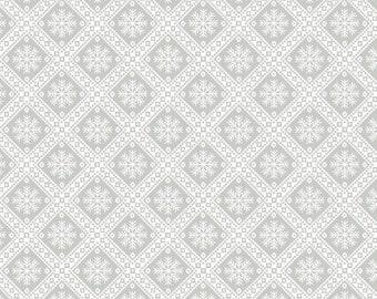 Winter Essentials IV Small Diamond Snowflake Grey by Studio E Fabrics