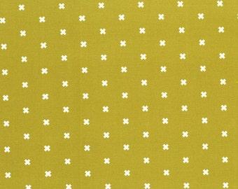 XOXO Olive Shag Carpet 5001 004 Basics by Cotton + Steel