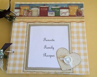 Family recipe scrapbook  premade recipe scrapbook   recipe album   gift for grandma   gift for new bride